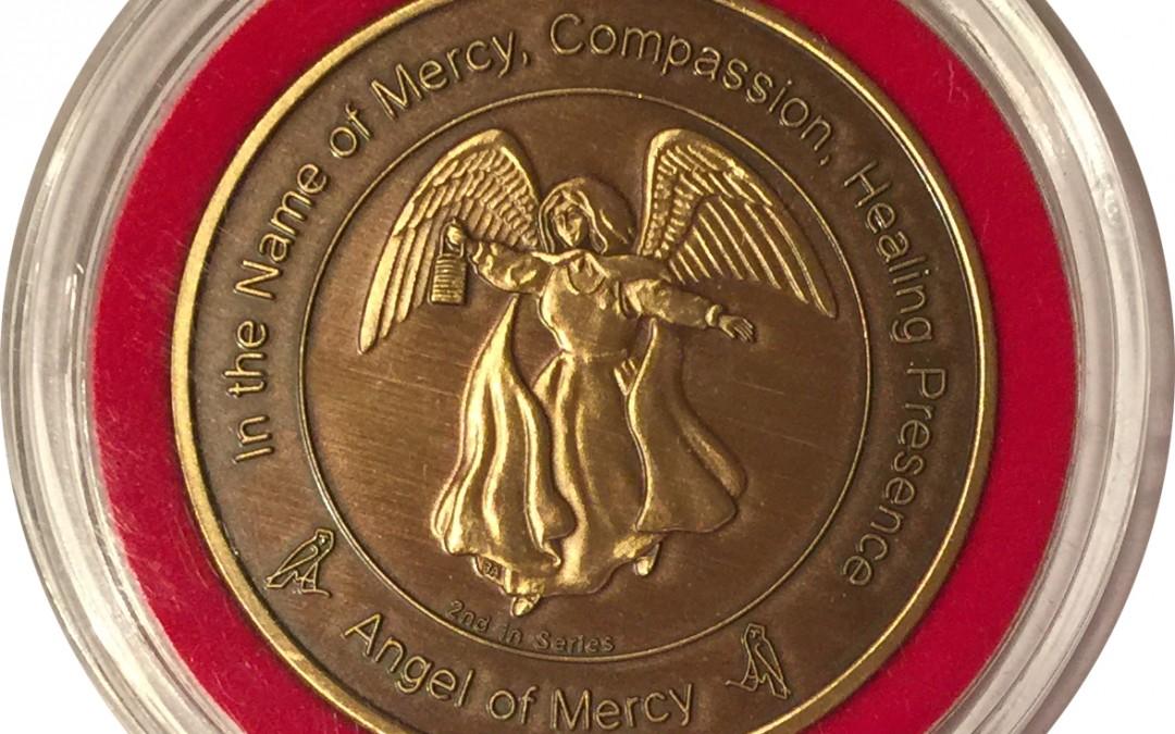 Coin 2: Angel of Mercy Antique Bronze in Bezel