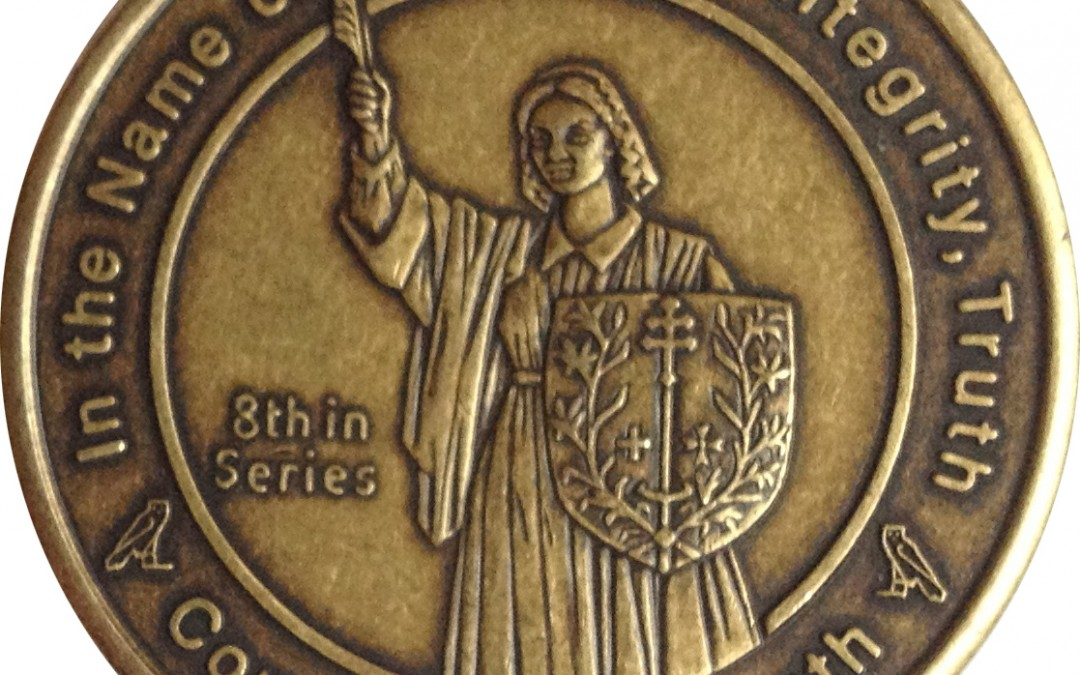 Coin 8: Companion of Truth Antique Bronze Pocket Piece