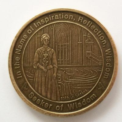 Seeker of Wisdom coin in Antique Bronze