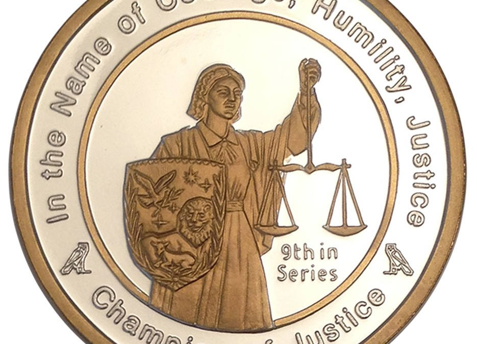 Coin 9: Champion of Justice in Fine Silver with 24kt Gold