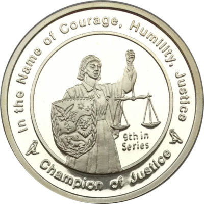 champion of justice coin