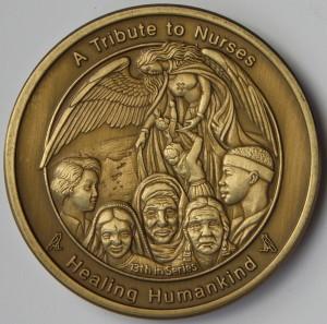 Coin 13: Healing Humankind Antique Bronze Pocket Piece