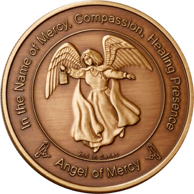 Coin 2: Angel of Mercy in Antique Bronze