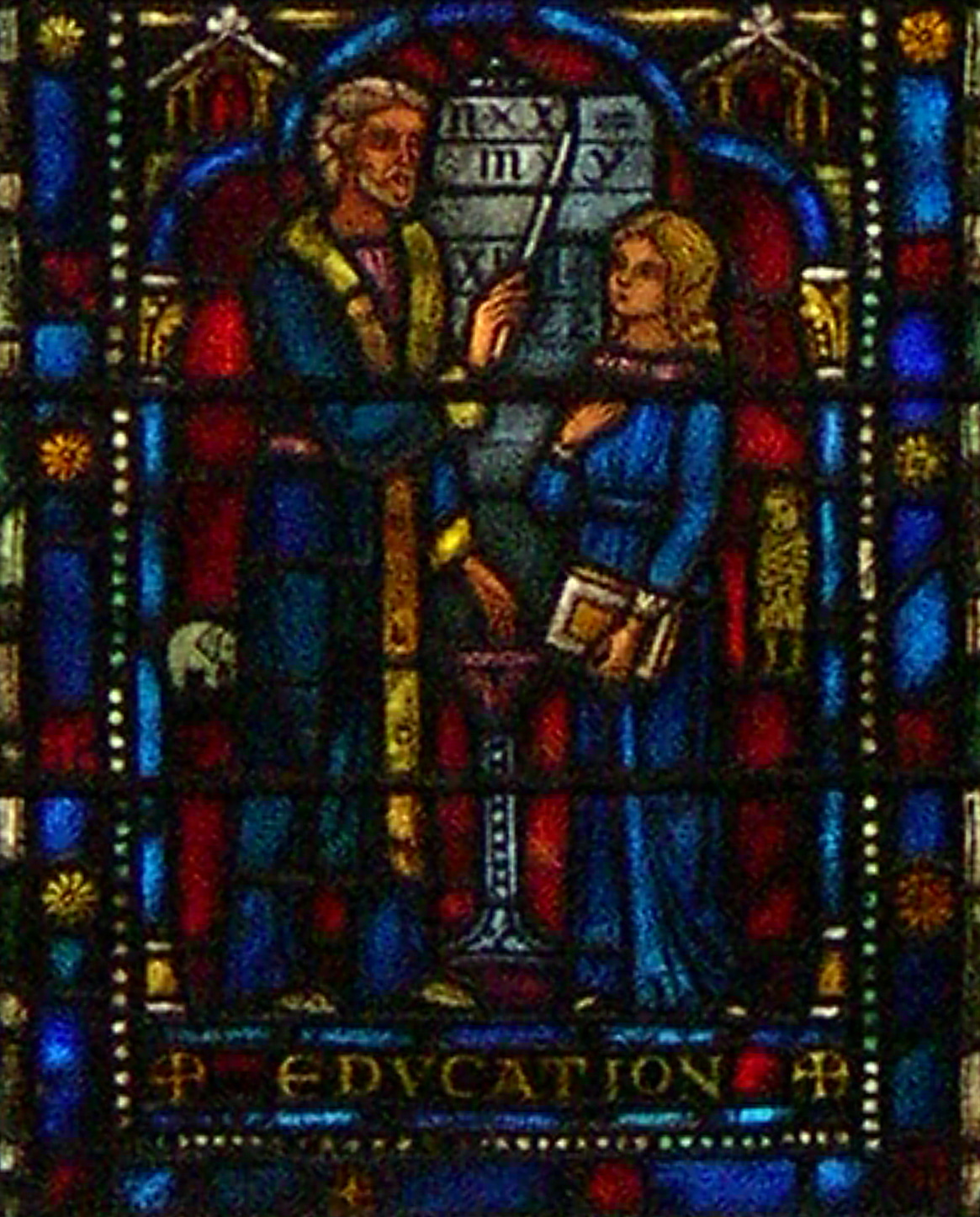 education window pane from crimea cathedral