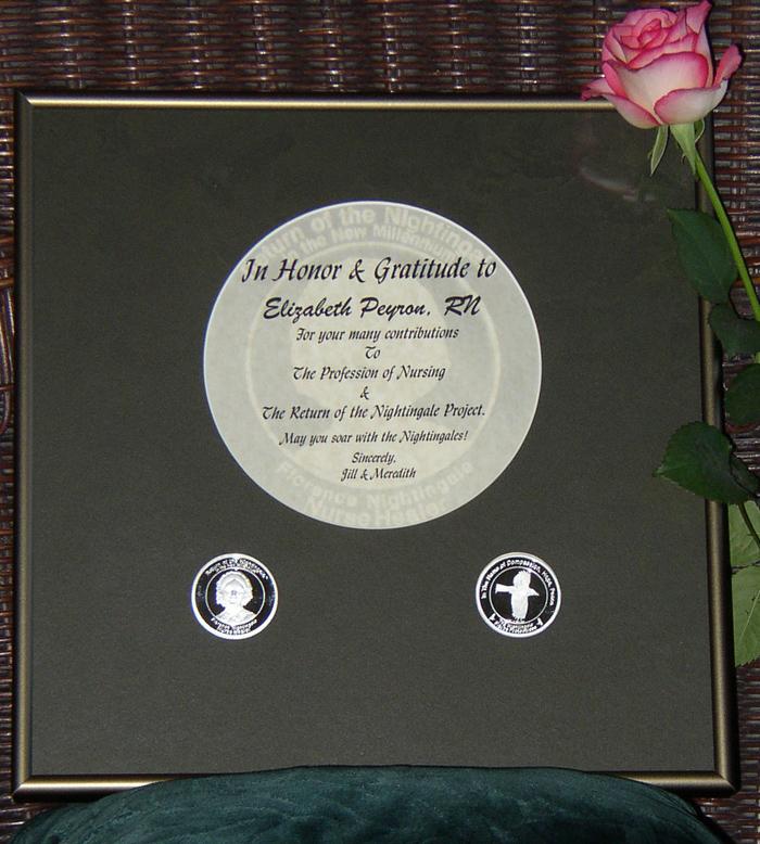 Certificate in Gold Frame