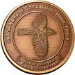 Coin 1 v1 Fierce Protectress in Antique Bronze collectible coin