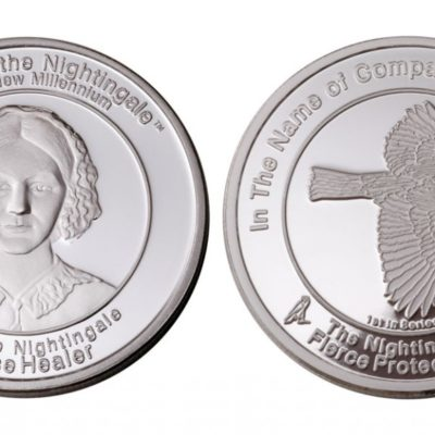 Coin 1 Fierce Protectress in fine silver