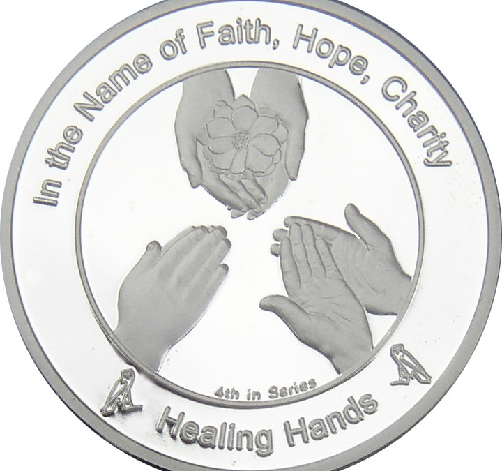 Coin 4: Healing Hands in Fine Silver