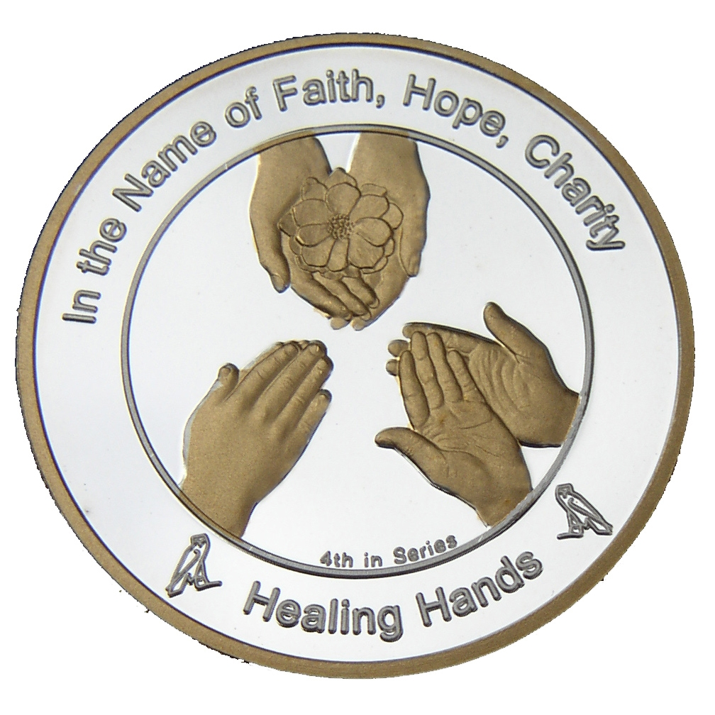 Coin 4 healing hands in fine silver and 24kt gold return of the coin 4 healing hands buycottarizona Image collections