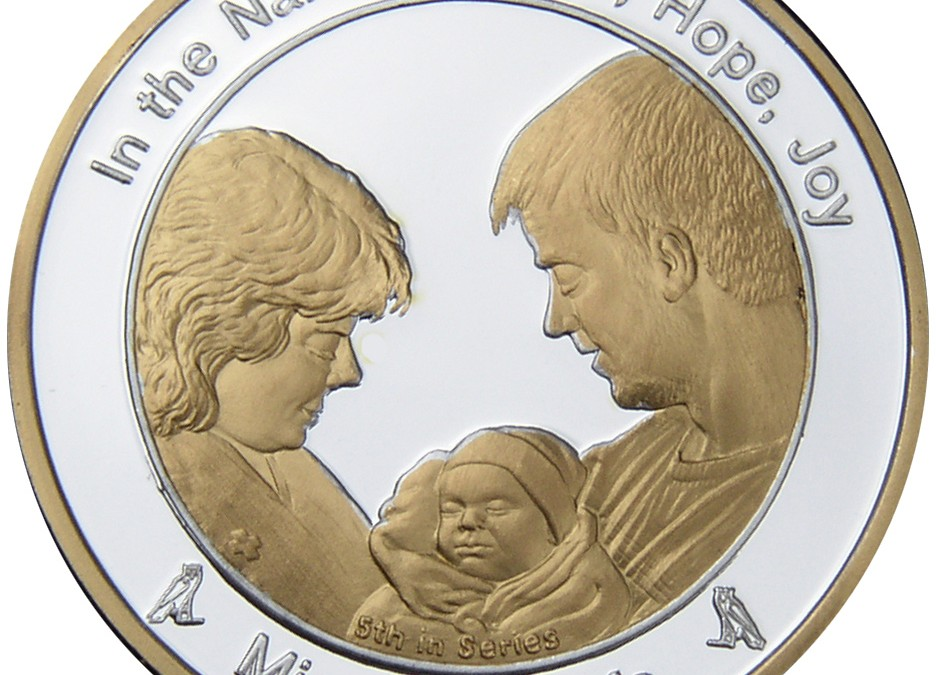 Coin 5: Miracle of Life in Fine Silver with 24kt Gold