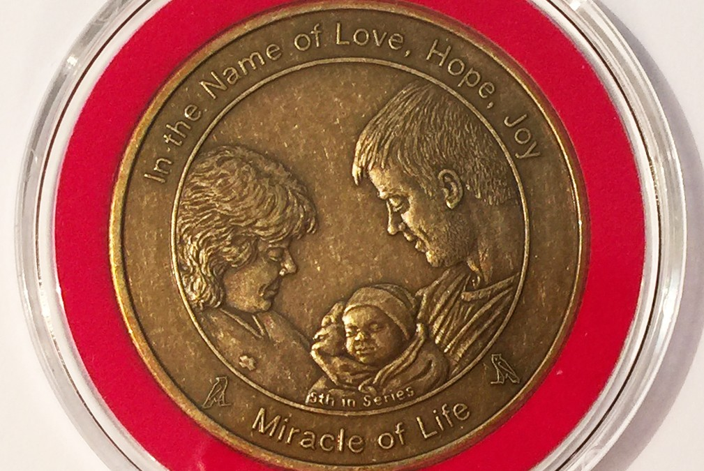 Coin 5: Miracle of Life Antique Bronze in Bezel