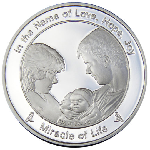 Coin five Miracle of life in Fine Silver