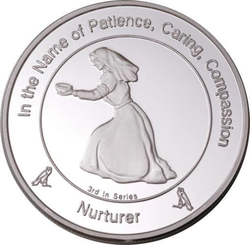 Coin three Nurturer in Fine Silver