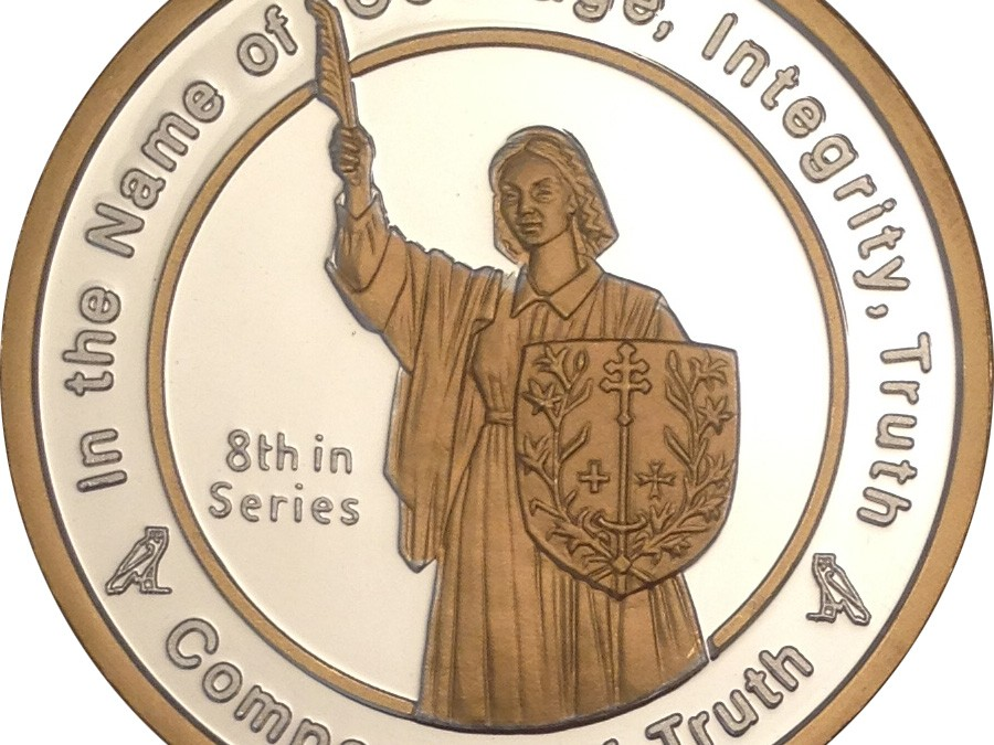 Coin 8: Companion of Truth in Fine Silver with 24kt Gold
