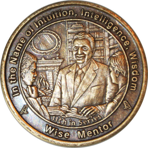 Wise Mentor coin in Antique Bronze